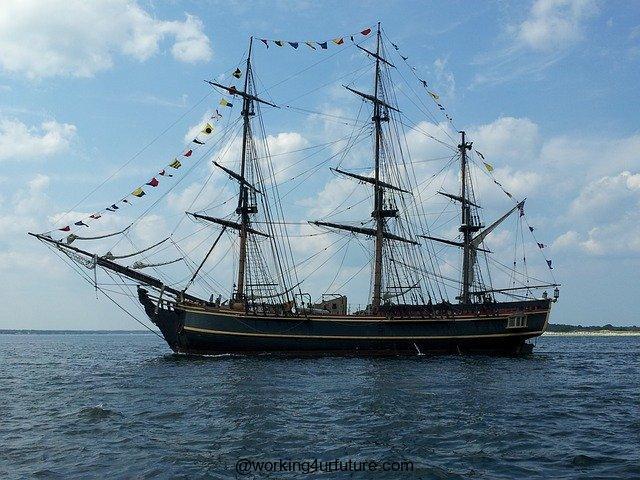 A Navy Ship.