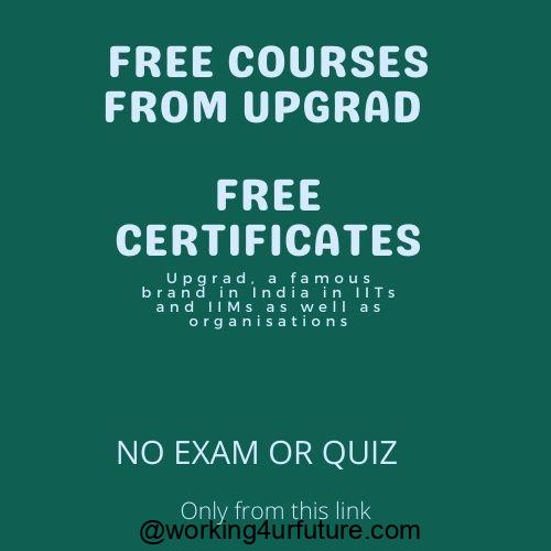 free upgrad courses with certificates
