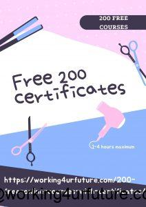 Free 200 courses with certificates