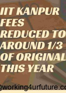 IIT Kanpur MBA fees reduced